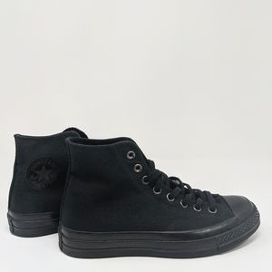 Chuck 70 Hi Black Monochrome Men's 7 Women's 9